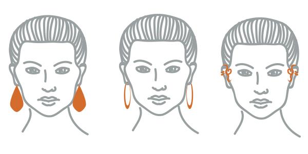 серьги для лица алмаз