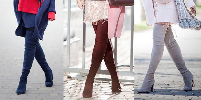 ботфорты короткая юбка синие коричневые серые с чем носить