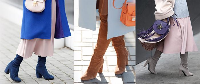 ботфорты кюлоты длинные юбки с чем носить