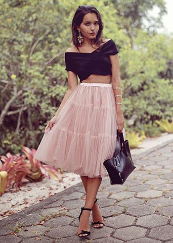 фатиновая юбка пачка с чем носить