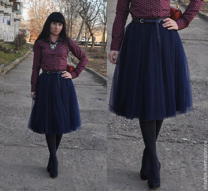 с чем носить фатиновую юбку