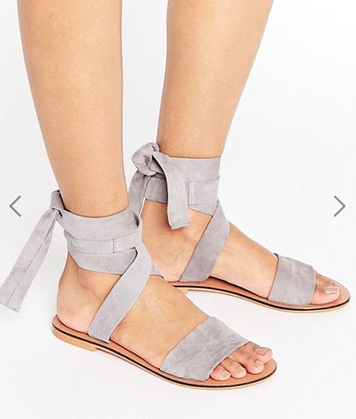 сандали кожа босоножки шнурки серо-сиреневый узкая стопа