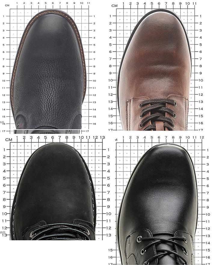 сравнение носов у мужских ботинок