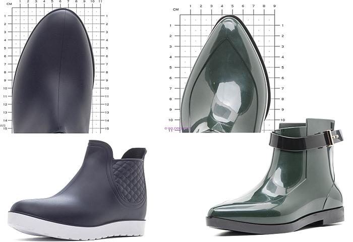 резиновые ботинки женские