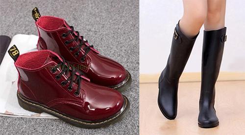 ботинки сапоги резиновые красные