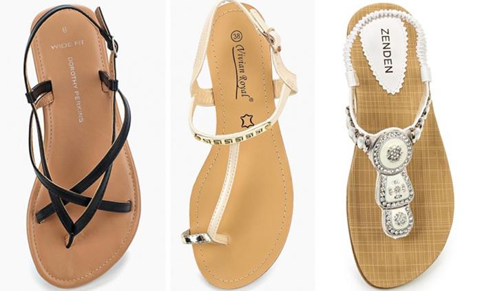 вьетнамки и сандали на короткие, средние и длинные пальцы