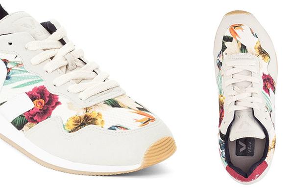 кеды кроссовки принт листья цветы растительный тропический купить обзоры модные цвета тренды