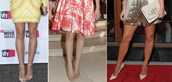 знаменитости бежевые телесные туфли в цвет ноги