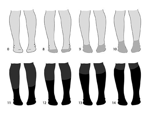 полные щиколотки сапоги обувь с чем носить рисунок обувь в цвет ноги