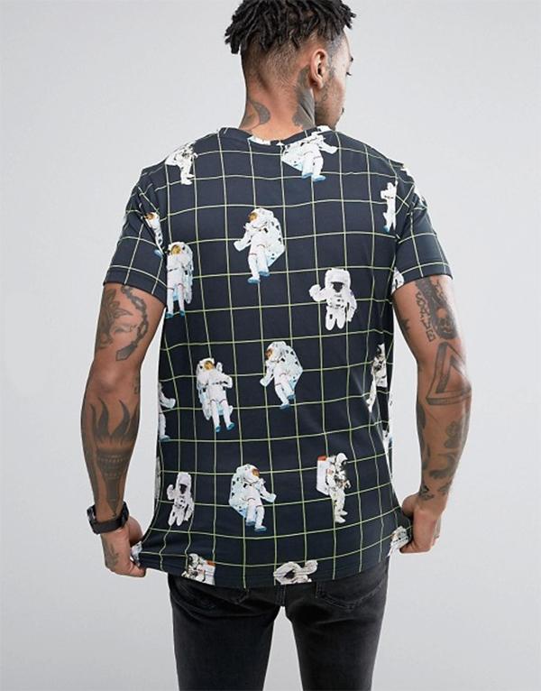 футболка космос принт космонавт мужская размеры купить