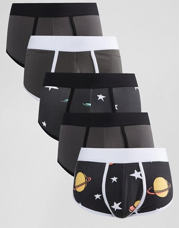 трусы мужские принт космос ракета купить сатурн звезды летающая тарелка