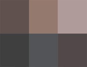 цвета серый, тауп, серо-коричневый, базовые для летнего цветотипа