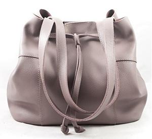 сумка мягкая для цветотипа лета серо-коричневого цвета базовый цвет тауп