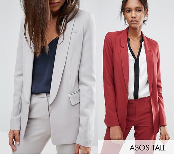 жакет пиджак блейзер женский рост высокий 180 см асос серый марсала