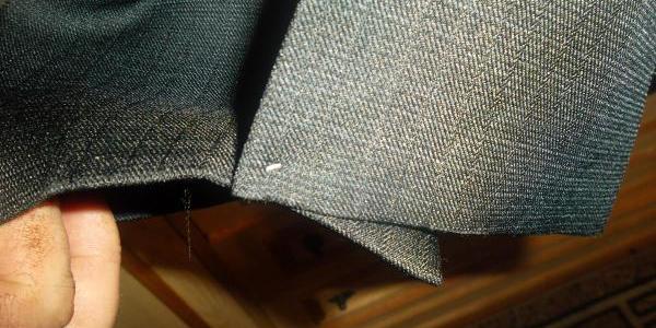зашитая шлица разрез пиджак