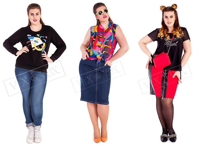Vix&Vox молодежная одежда больших размеров женская одежда плюс сайз