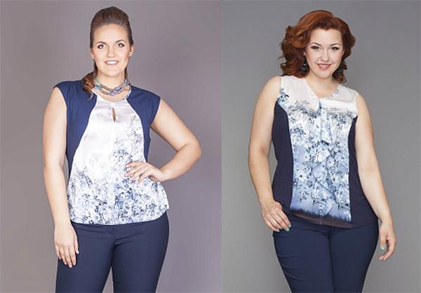 зрительные иллюзии уменьшение плечей уменьшение талии блузы плюс сайз женская одежда для полных больших размеров леди шарм