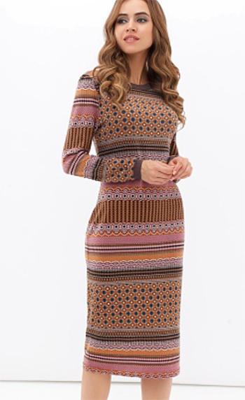 полосатое платье визуальное увеличение груди