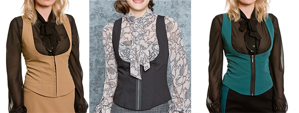жилеты подчеркивающие грудь