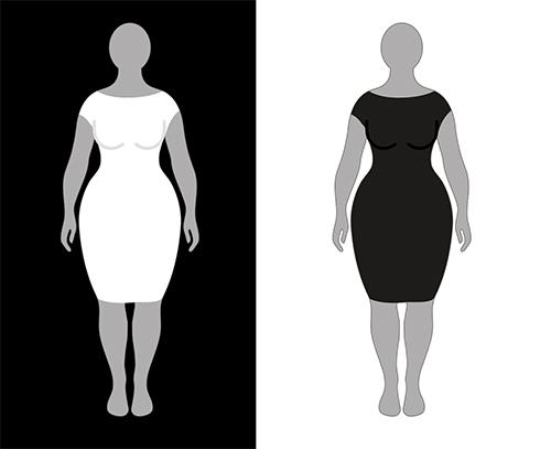 оптическая ирридиация в одежде контраст зрительные иллюзии