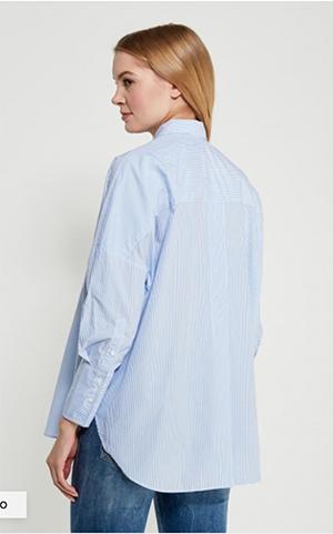 рубашка оверсайз хлопковая удлиненная спинка