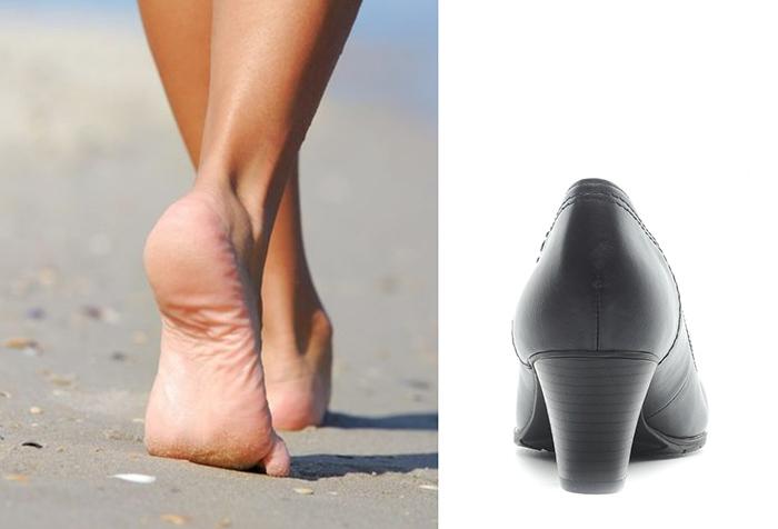 пятка женская форма сравнение туфли
