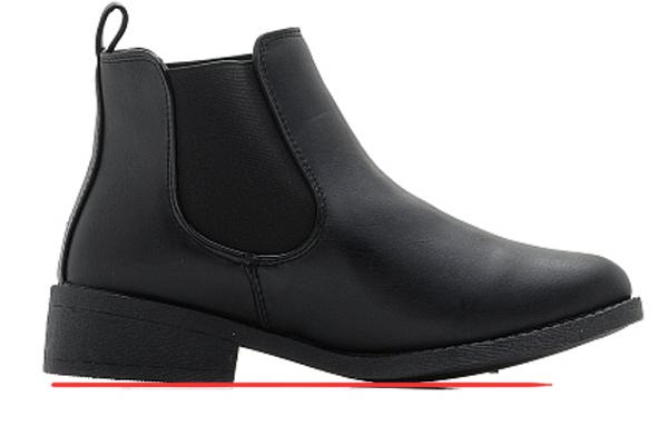 отклонение нижней площадки каблука от горизонтальной плоскости, отклонение ходовой части каблука, производственный брак