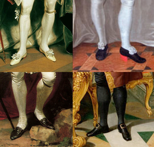 ботинки мужские парадные коне 17 начало 18 века анлия
