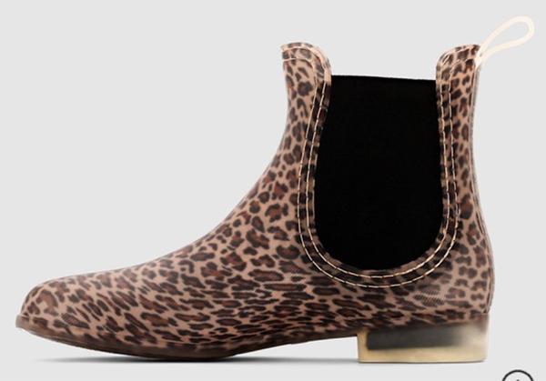 резиновые сапоги леопард челси