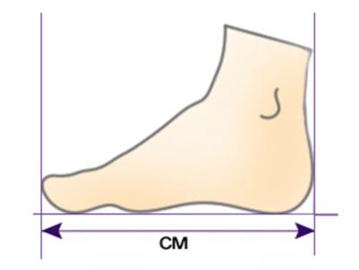 размер ноги как измерять