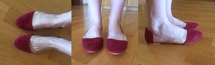 балетки прозрачные вставки контрастный нос винный цвет на ноги в разных ракурсах