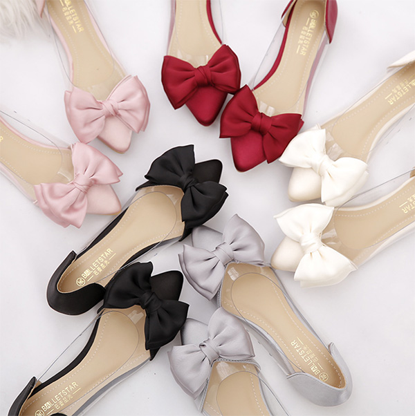 балетки купить прозрачная вставка бантик изящные тренд