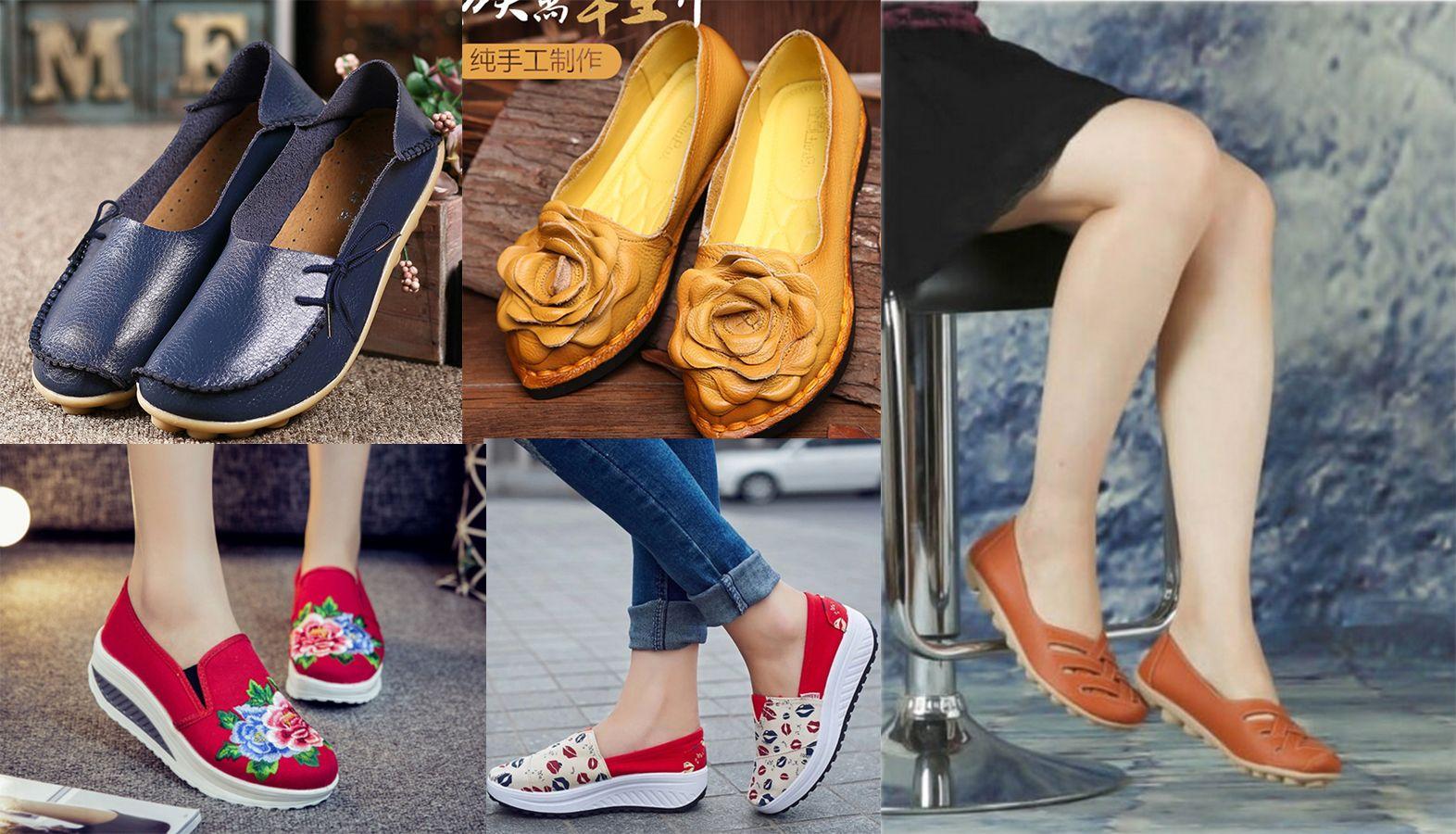 4 пары летней обуви на широкую стопу