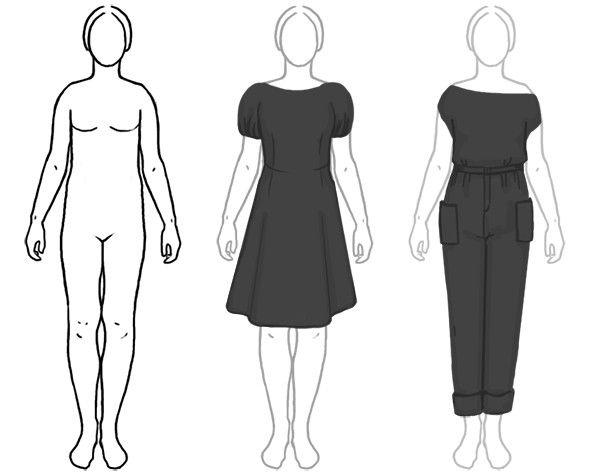 2 основных способа сделать талию с помощью одежды