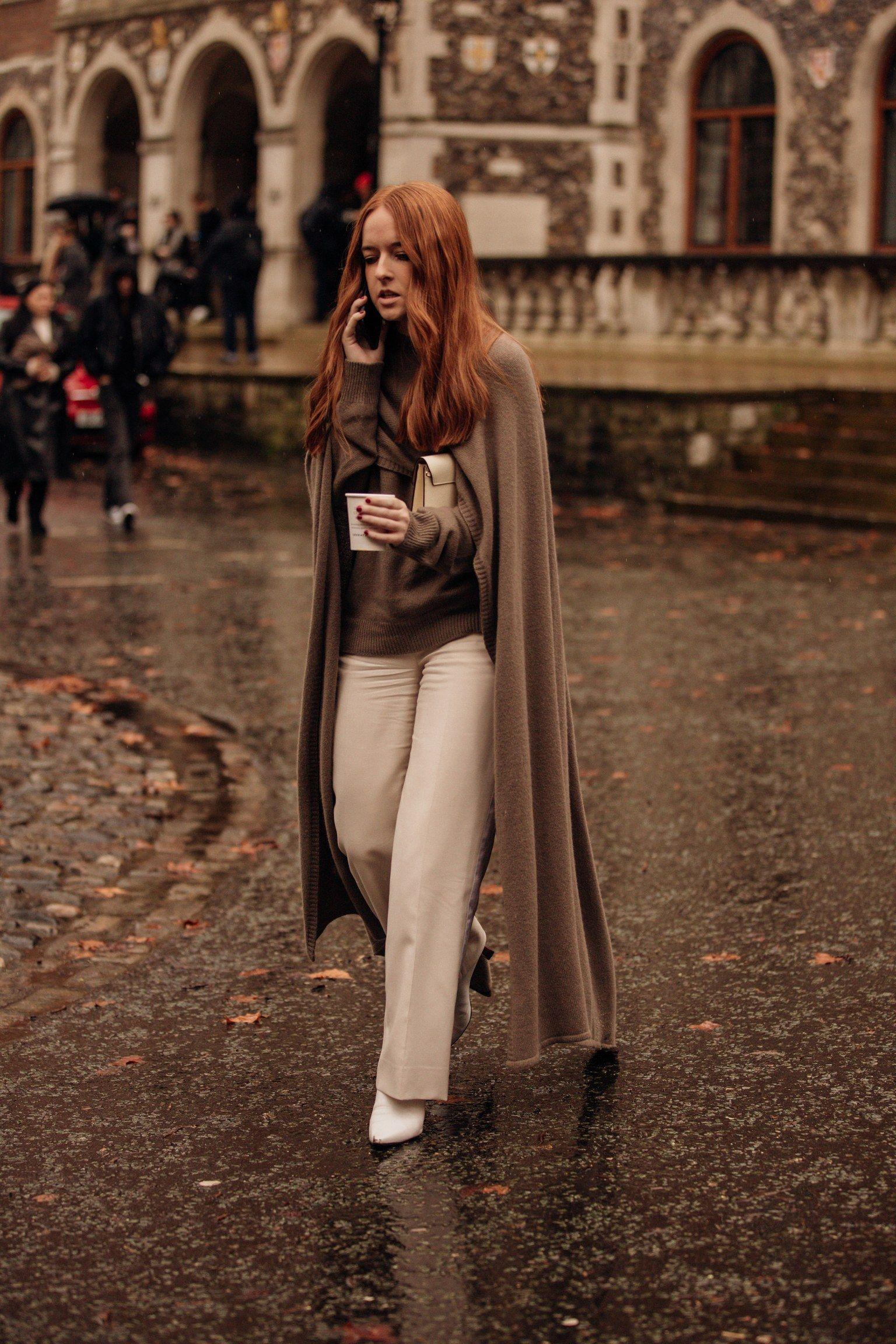 50 оттенков коричневого: стритстайл Лондонской недели моды