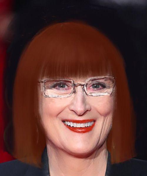 Неправильным оформлением можно испортить любую внешность, вот например, Мерил Стрип